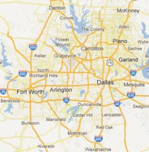 Map of Lewisville